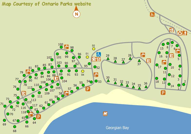 Killbear Provincial Park Map Killbear Provincial Park Map | compressportnederland Killbear Provincial Park Map