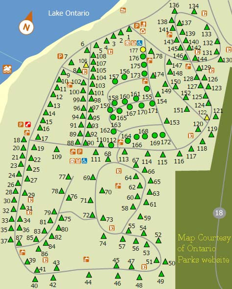 Sandbanks ontario parks camping for Outlet b b