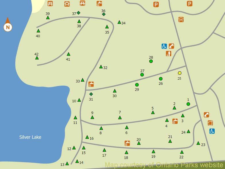 silver lake campground map Silver Lake Ontario Parks Camping silver lake campground map